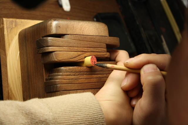 手彫り印鑑の字入れ